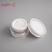 Clear round shape high quality 30g cosmetic acrylic container with disc