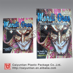 clown printing 4g/10g printing smoking spice herbal incense potpourri plastic pouch bag sachet