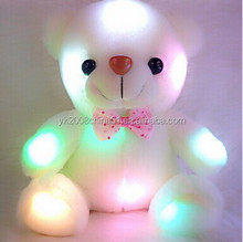 colorful plush stuffed dazzling led lights teddy bear Doll Toys