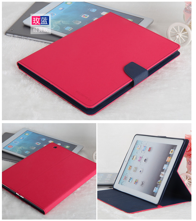 Hot selling new products pu leather protect case for ipad