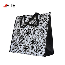 Extra Large Water Resistant Polyester Laminated Shopping Bag Foldable