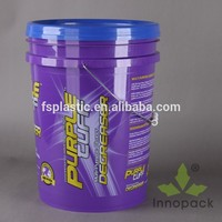 wholesale 20 liter plastic bucket with lid and handle for paint packing 20 liter plastic pail