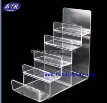custom clear acrylic wallet display stand