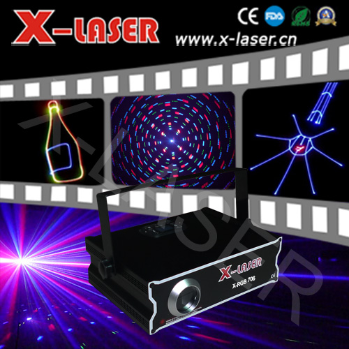 ILDA Laser 500Mw RGB full color Animation with SD Outdoor LOGO Laser Show Projector