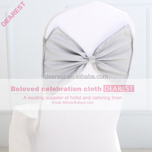 silver new model high quality hot selling fashion wedding chair sash