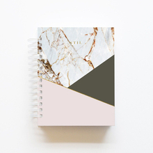 Unique Marble Leather Cover Personalized Hardcover Spiral Bound Notebook