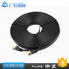 Factory direct sale Flexible flat patch cord 25 cm lan cable with UL ROHS certification