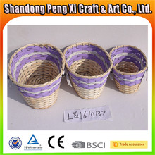 Factory supply small purple wicker wire gift baskets