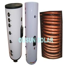 Galvanized Pressure Solar Water Tank with Copper Coil