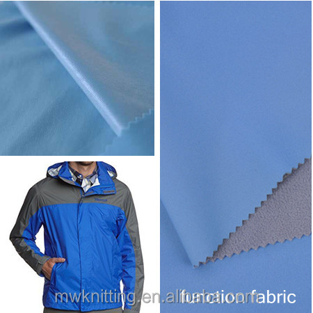 2014/2015 newly 3 layers 100% polyester water resistance TPU film bonding fabric for winter wear,hunting wear, winter coat.