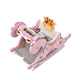 Small indoor pink plastic riding rocking horse ride on animal toys