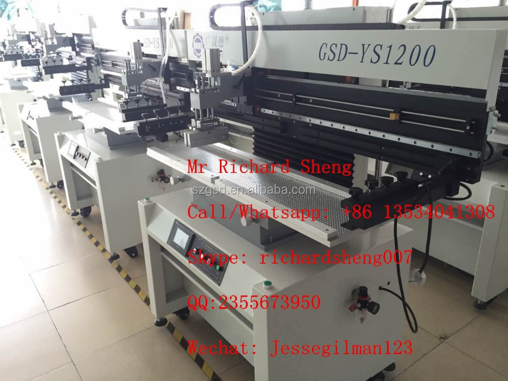 GSD-YS1200 semi automatic manual solder paste printer, used for PCB board printing. SMT equipment manufacturer