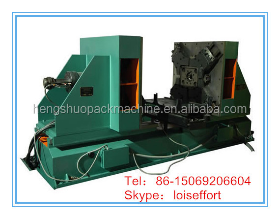 Edge folding machine/flanger for muffler and cans