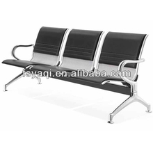 YA-25 Hot sale 3-seater PU padded metal gang chair
