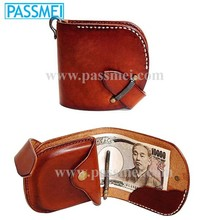 2015 vintage leather cover case, leather coin purse