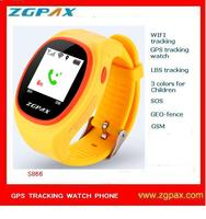 2016 ZGPAX S866 WIFI GPS TRACKING WATCH WITH LBS AND COLORS