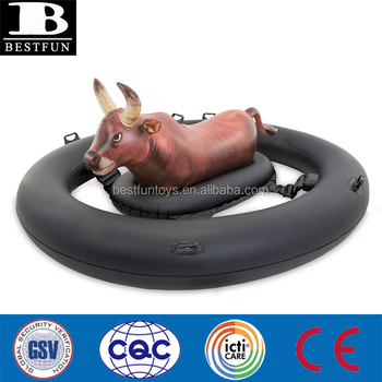 Durable Giant Inflatabull Bull-Riding Inflatable Swimming Pool Float family pool party toy