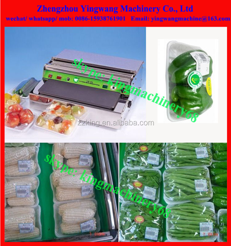 hand cling film wrapping machine for food packaging