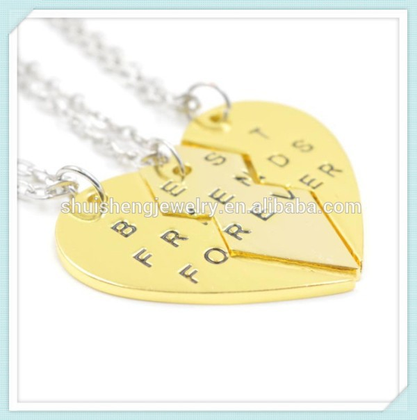 Friend birthday gift friendship symbol fashion gold 3 best friends necklaces