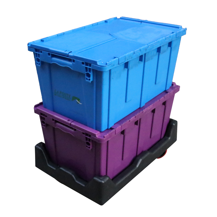 High Quality Moving plastic <strong>container</strong> with lid handle