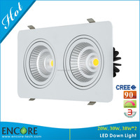 Encore 40W LED Ceiling Down Light With >90 RA 3000K LED Indoor Spot Lighting For Shops Dimmable LED Commercial Light