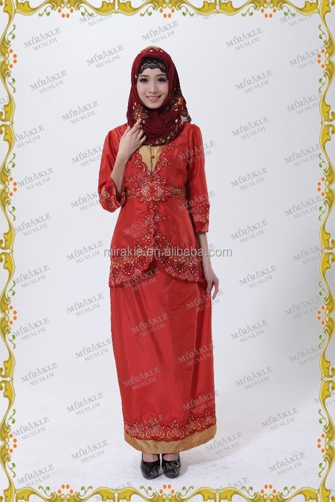 mf19869 long sleeve muslim casual dress baju kurung with