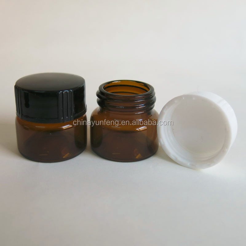 3ml, 5ml, 10g, 1/2 oz wide mouth small sample glass cream jars