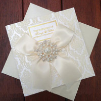 manufacturer white embossed top quality fashion new design wedding invitation cards