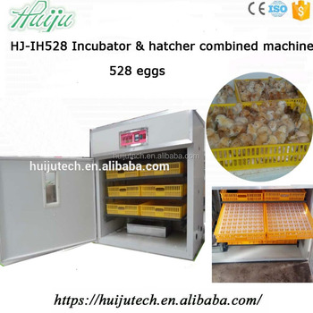 Full automatic chicken egg incubator hatching machine HJ-IH528 for 528 eggs