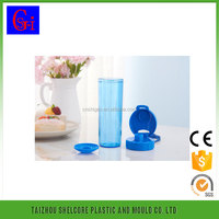 straw strap PC plastic drinking bottle ,disposable plastic bottle ,custom sports