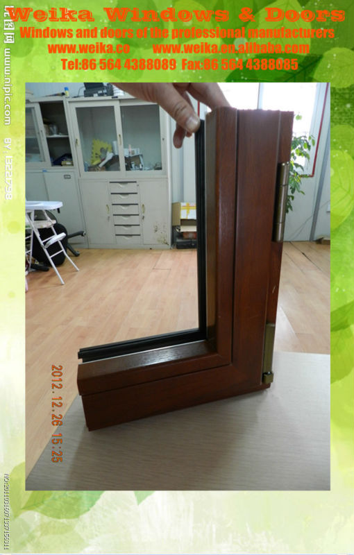 modern wooden aluminum doors and windows profile