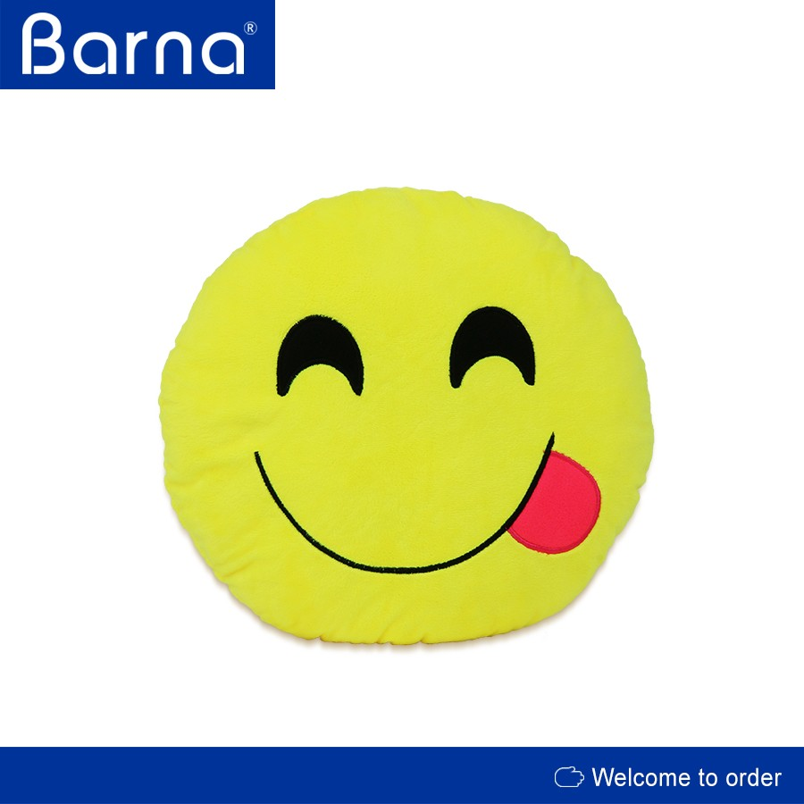 easy carrying trendy emoticon emoji pillow as travel companion/mate, with washable dust free cover