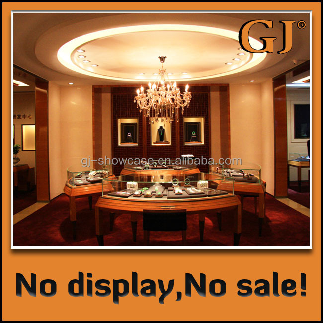 Decorating Jewelry Shop MDF Display Box Free Design Whole Shop Interior