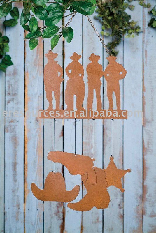 Garden Decoration_Metal Outdoor Scenic Chime_Cowboys