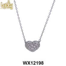 Jewelry supplier necklace designs imitation jewelry jewellery necklace heart for baby girls