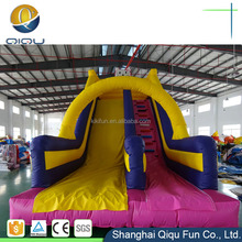 Cool and exciting color optional giant inflatable water slide for adults, pvc inflatable water slide on sale