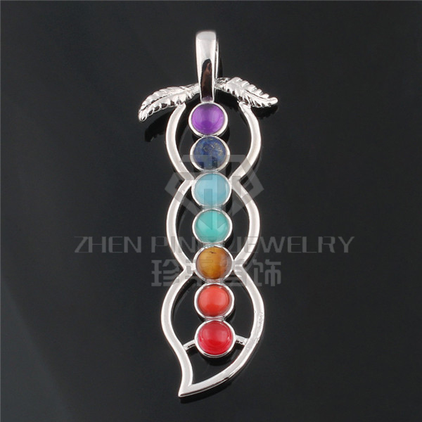 2017 New Design Yoga Reiki meditation Round Seven Chakra Beads /Stone Pendant Ckakra Healing Necklace For Women/Men