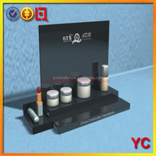 Black Acrylic Store Counter Cosmetic Display Shelves Furniture