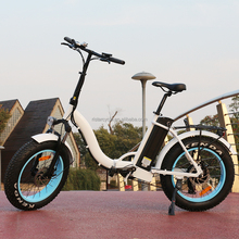 Discount 250w 500w 750w brushless motor mini folding e electric fat tire bike