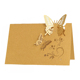Latest design paper laser cut butterfly various color wedding place card