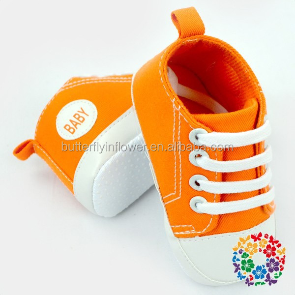 Orange Spring Shoes For Baby Toddle Upper Shoes Childrens Canvas Sports Shoes