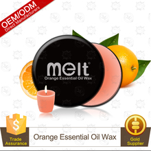 Handmade Orange Fruit Luxury Sex Body Essential Oil Massage Candle Private Label