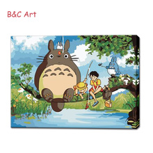 Cute Totoro Image Design Popular Product Paint by Numbers for Adults