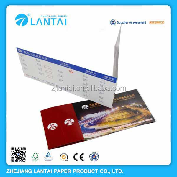 Thermal airline printing best useful custom paper card tickets