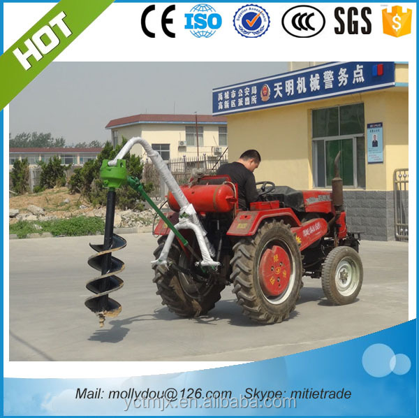 tractor soil hole digger