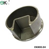 Stainless steel glass round slot tube pipe fitting tube end cap
