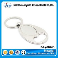 New style promotion key ring opener blank metal bottle opener keychain with custom logo