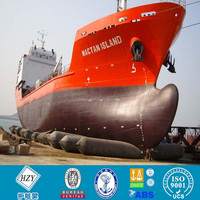 High pressure inflatable balloon for ship launching