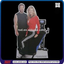 Fitness room figure cardboard floor display standee