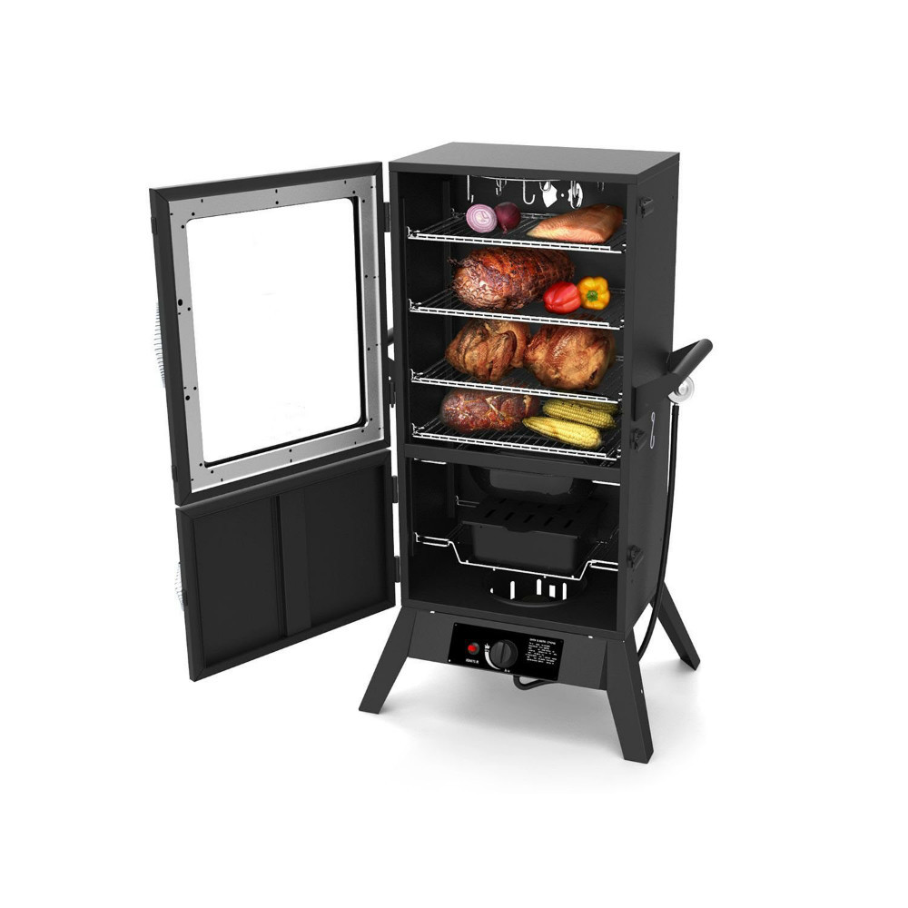 Lp Vertical Gas Bbq Barbecue Smoke Grill With Window For Indoor Outdoor Buy Lp Vertical Gas